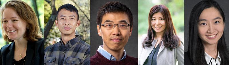 (from left) Carolyn Szum (Lead Researcher), Han Li, Chao Ding, Nan Zhou, Xu Liu (Credit: Berkeley Lab)