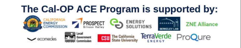 Cal-OP ACE program supporter logos