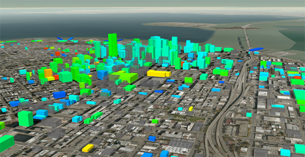 3D graphic produced by CityBES