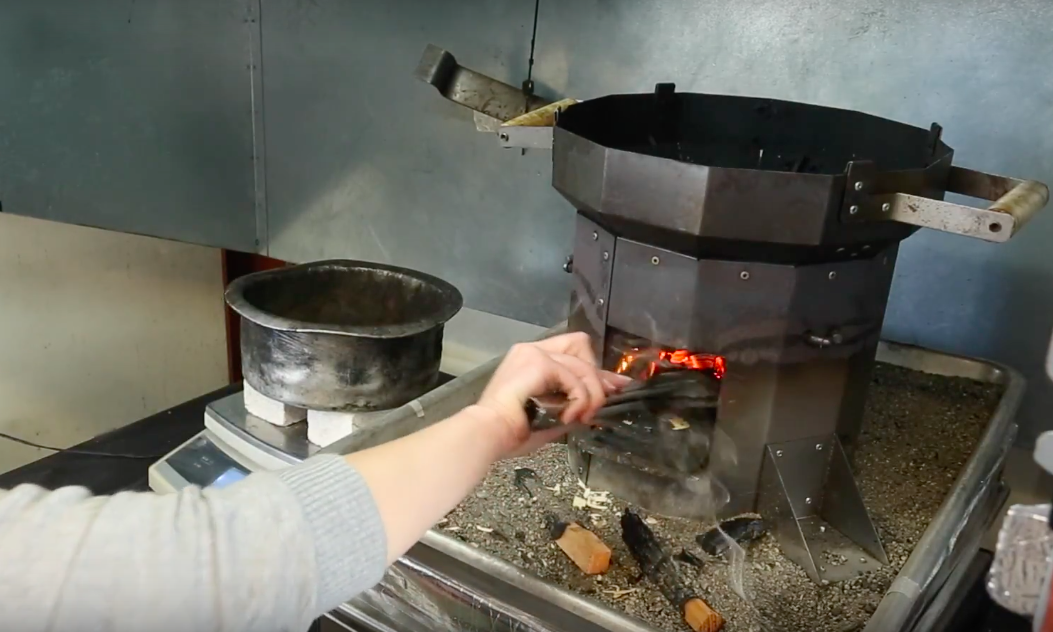 Using a cookstove in the lab