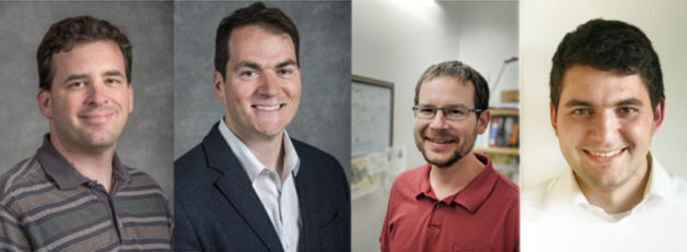 (from left) Adam Weber, New Danilovic, Douglas Kushner, and John Petrovick (Credit: Berkeley Lab)