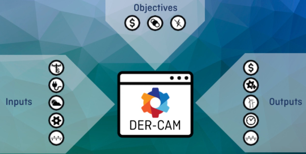 Screenshot from DER-CAM tutorial video