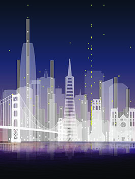graphic of san francisco skyline