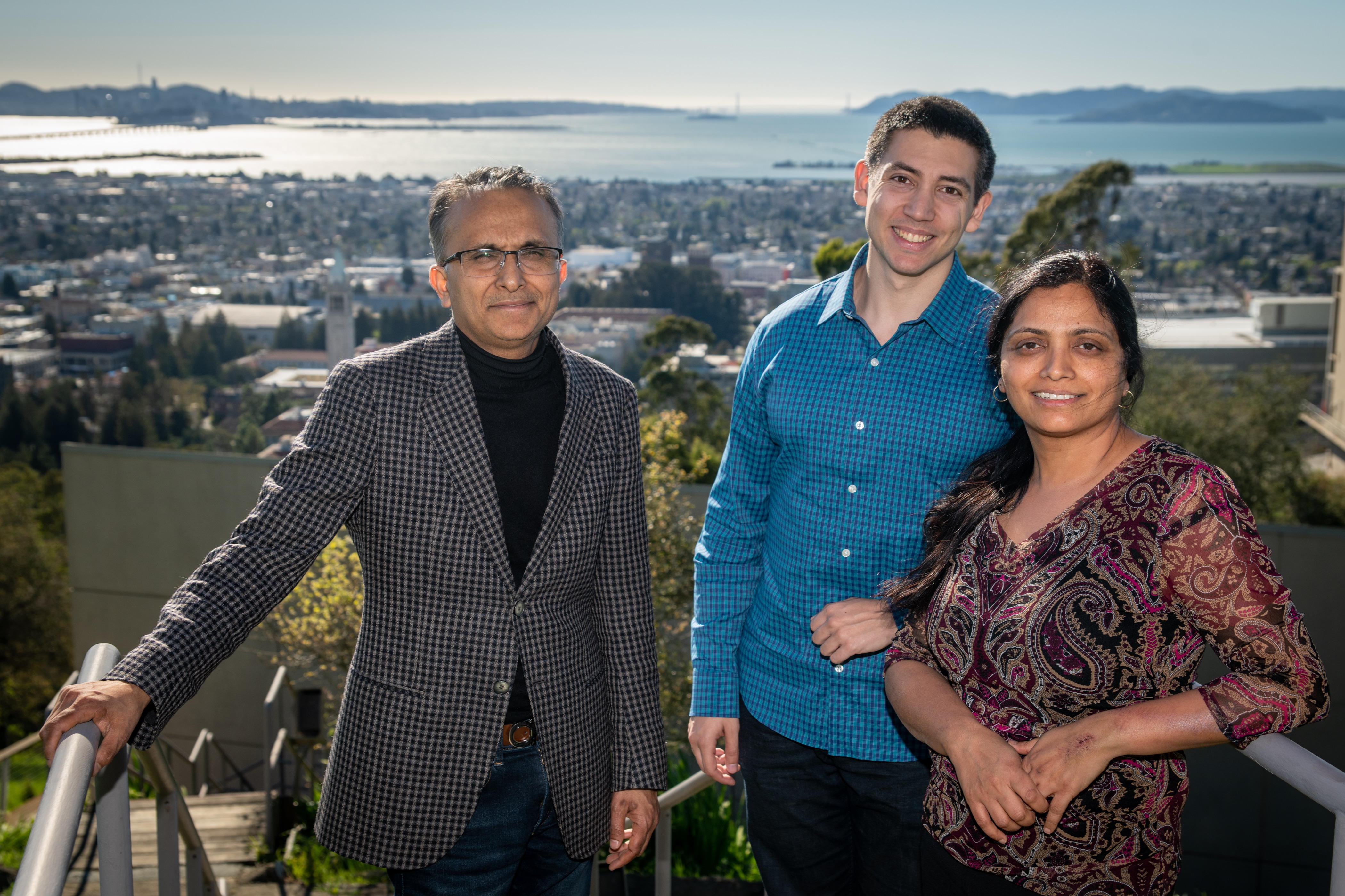 Themal Energy Group's Principal Investigators: from left to right, Senior Scientist Ravi Prasher, Research Scientist Sean Lubner and Group Leader Sumanjeet Kaur who leads the group of 28 researchers.