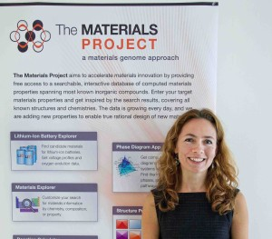 In 2009, computational materials scientist Kristin Persson used funding from Berkeley Lab's Laboratory Directed Research and Development program to develop the nascent Materials Project's capabilities and make it open access to serve a diverse community of materials scientists. (Credit: Roy Kaltschmidt/Berkeley Lab)