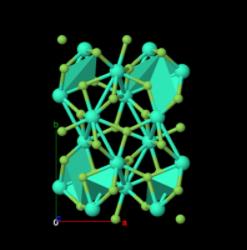 Simulation of terbium fluoride (Credit: Materials Project/Berkeley Lab)