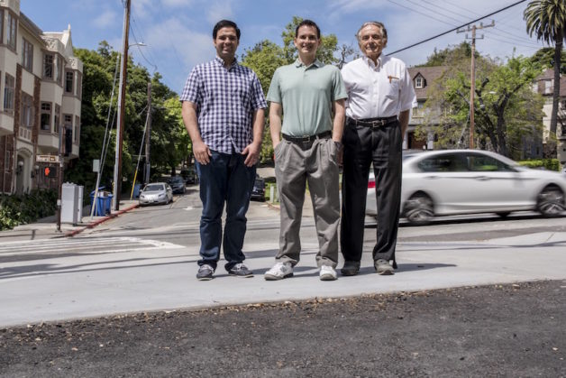 Cool pavement researchers Pablo Rosado, Ronnen Levinson and Mel Pomerantz