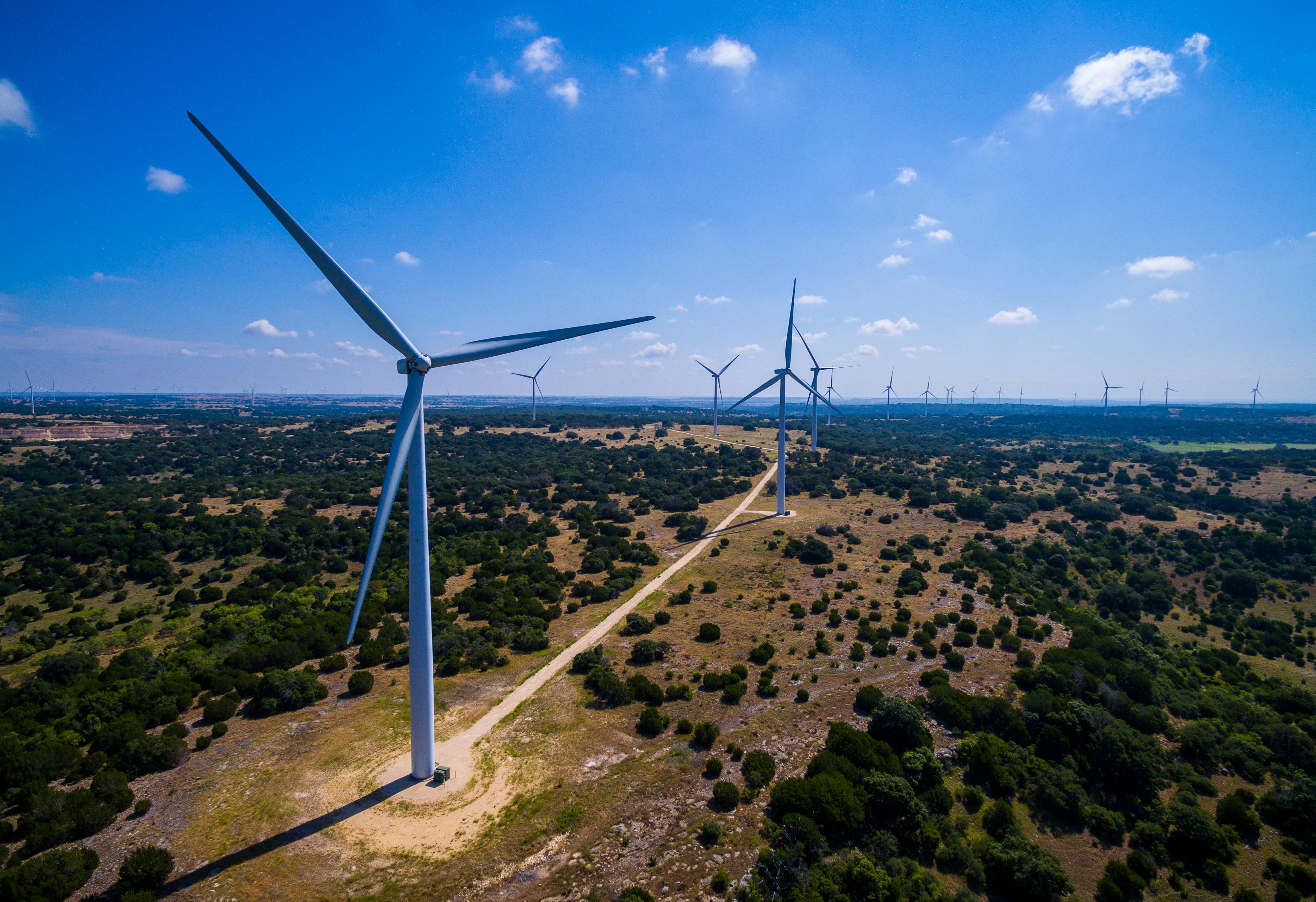 Wind turbines in Texas. Credit: iStock